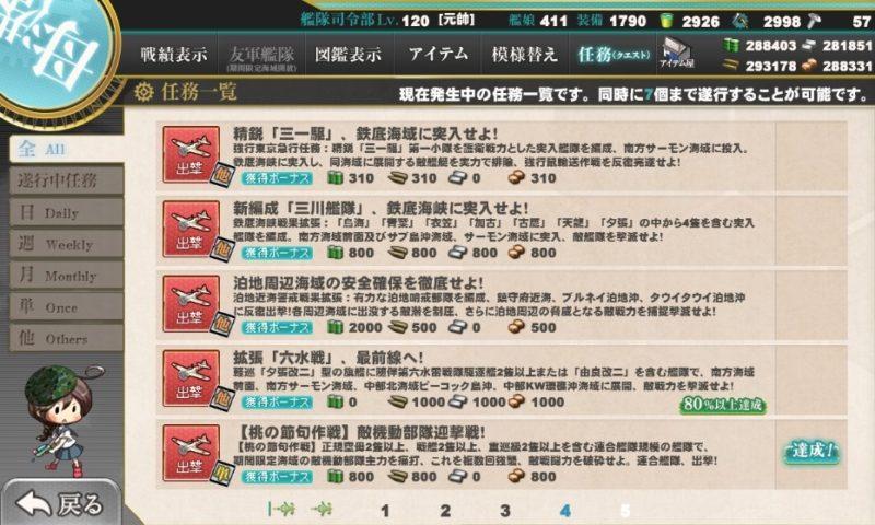 【桃の節句作戦】敵機動部隊迎撃戦!任務攻略編成・艦これ二期